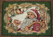 Fitz & Floyd Holly Jolly Santa Christmas Tapestry Placemat