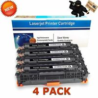 4 PK CF380A Black Toner for HP 312A Color Laserjet Pro MFP M476nw M476dn M476dw