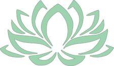 Lotus Flower Mint 545 - Die Cut Vinyl Window Decal/Sticker for Car/Truck
