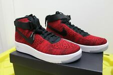 NEW NIKE AIR FORCE 1 AF1 ULTRA FLYKNIT RED / BLACK Men's Size SZ 10.5 817420-600