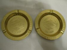 Pair Of Grain Belt Beer Minneapolis Brewing Co. MN Minnesota Gold Tone Ashtrays