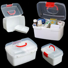 Health Pill Medicine Chest Storage Box 2 Layer Emergency Home First Aid Kit GIX