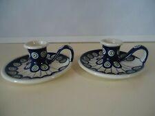 Original Bunzlauer Keramik  Kerzenhalter, Kerzenständer retro NEU