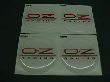 4 OZ Racing domed wheel centres 55mm Diameter