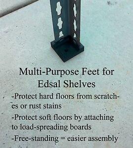 Edsal Heavy-Duty Utility Shelving Feet (set of 4)