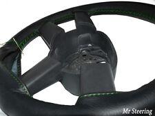 VOLANTE Copertura per VOLVO V70 realizzata in pelle nera con cuciture verdi