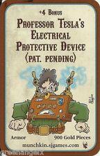 STEVE JACKSON GAMES - MUNCHKIN STEAMPUNK PROMO CARD : PROFESSOR TESLA'S ELECTRIC