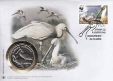 Numisbrief WWF 2006 Romania - Platalea Leucorodia / Lepelaar (002)