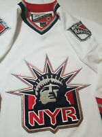 New York Rangers Jersey ProPlayer Mens Large L white lady liberty Pro Player NHL