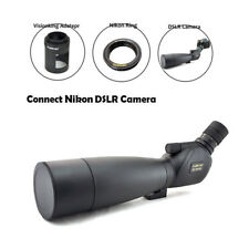 Visionking 20-60x80 Bak4 Waterproof Spotting scope W/Tripod Nikon Camera Adapter