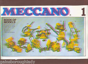 MECCANO BOOK OF MODELS  No 1.  1978