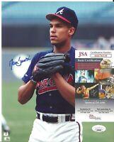 David Justice Signed Auto 8x10 Photo JSA COA Atlanta Braves MLB Baseball