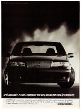 1996 VOLVO 850 R Vintage Original Print AD - Black car photo French Canada