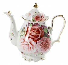 Fine Bone China Shabby Victoriana English Rose Teapot  ~ Beautiful Gift ~