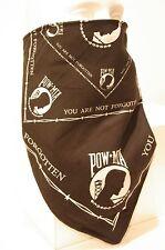 POW MIA Black Recreational Fleece Lined Bandana motorcycle face mask protector
