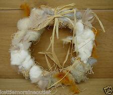 Songbird Essentials Nesting Material Wreath Wild Bird Nest Builder Feathers Hemp