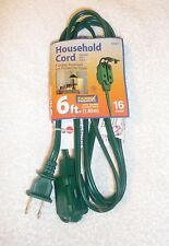 New 6-Ft Durex Extension Cord 3-Outlet Polarized w/ Protective Cover 16 Gauge