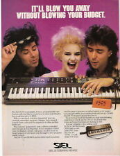 1986 IT'LL BLOW YOU AWAY THE SIEL DK-70 SYNTHESIZER AD