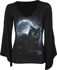 Spiral Mystical Moonlight V-neck Gothsleeve Top XXL