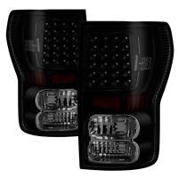Toyota 07-13 Tundra Black Smoked LED Tail Lights Brake Lamps Left & Right Set