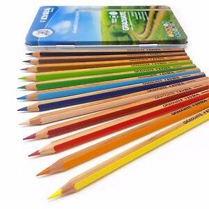 Lyra Graduate Thick Lead Coloured Pencils - 3.8mm Lead - Tin of 12 (2871120)