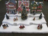 Christmas Village Display Platform J44 For Lemax Dept 56 Dickens + More