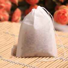 100pcs Empty Teabags String Heat Seal Filter Paper Herb Loose Tea Bag 5.5 x 7cm
