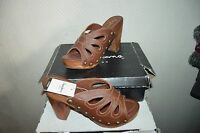 CHAUSSURE SANDALE TALON PEPE JEANS LONDON TAILLE 39 CUIR NEUF