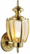 Uplight Outdoor Wall Sconce Lamp ~ Solid Brass w/Glass Shade ~ EZ Mount Install