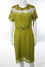 Marchesa Notte Yellow Lupita Dress Size 10 $795 10462064