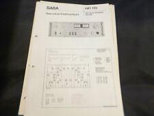 Original Service Manual esquema eléctrico Saba HiFi amplificador vs 2160