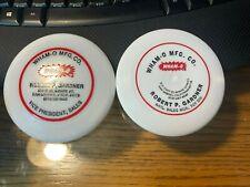 "Wham-o Frisbee 4"" mini disc IFA calling card Robert Gardner VP sales set of 2"