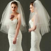 2 Layer Elbow Wedding Beige Bridal Veil With Comb Bride Marrige Accessories