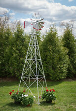 12 Ft Hand Made in the USA! Aluminum Garden Windmill