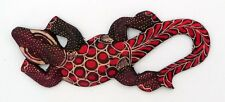 Gecko margouillat salamandre lézard en bois et batik art Java Indonésie N°6