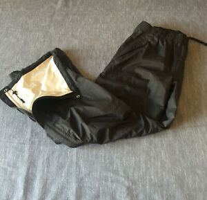 REI Peak 2.5L black rain pants full zip legs mens L