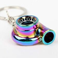 Simple Cool Sleeve Bearing Gunmetal Spinning Turbo Keychain Turbocharger keyring