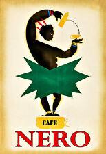 Café Nero Tea Coffee Drink Cafe Kitchen Pub Bar Chic Deco   Poster Print
