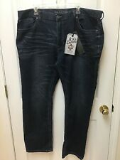 NWT  AXE & CROWN men jeans 42/32 Navy Denim  Slim Fit Straight Leg