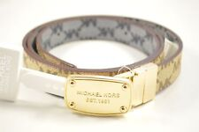 Michael Kors 552805C Brown Large Reversible Women's Belt