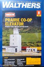 Walthers N #933-3860 Prairie Co-Op Elevator -- Kit (Plastic) NEW