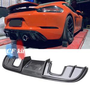 GT4 Style Carbon Fiber Rear Bumper Diffuser For 17+ Porsche 718 Cayman Boxster
