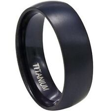 8MM Solid Titan Ring schwarz All Größe Männer Kind Hochzeit Verlobung Schulklass