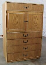 ON SALE!! Vintage Campaign Style Gentlemen's Chest by Founders Furniture in Oak