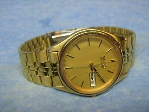 Men's Vintage Gold SEIKO Water Resistant Watch w/ New Battery