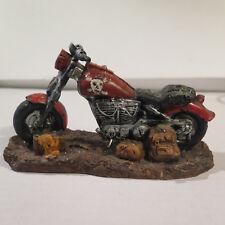 Motorrad - Biker-Skulptur  (Modell Totenkopf)