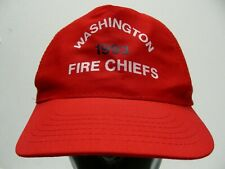 WASHINGTON FIRE CHIEFS - 1993 - ONE SIZE ADJUSTABLE SNAPBACK BALL CAP HAT!