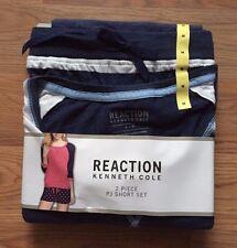 NWT Women's KENNETH COLE REACTION Navy Blue Pajamas Shorts top Sleepwear Set S