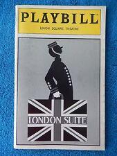 London Suite - Union Square Playbill - April 1995 - Carole Shelley - Kate Burton