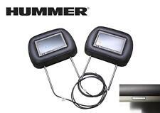 *NEW* SET of Genuine GM 2003-2009 Hummer H2 Video Headrest DVD Monitor Ebony